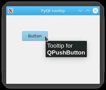 python pyqt工具提示