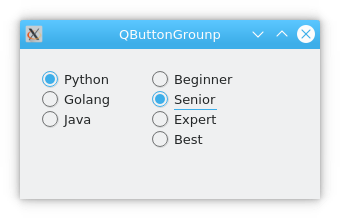 pyqt qbuttongroup示例